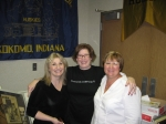 Susan Beatty , Virginia Root and Jane Schroeder Fague hanging out in the 'Haworth' room at KHS ...Saturday afternoon.